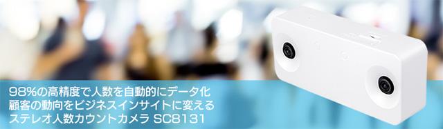 人数カウント機能を搭載したステレオカメラ SC8131